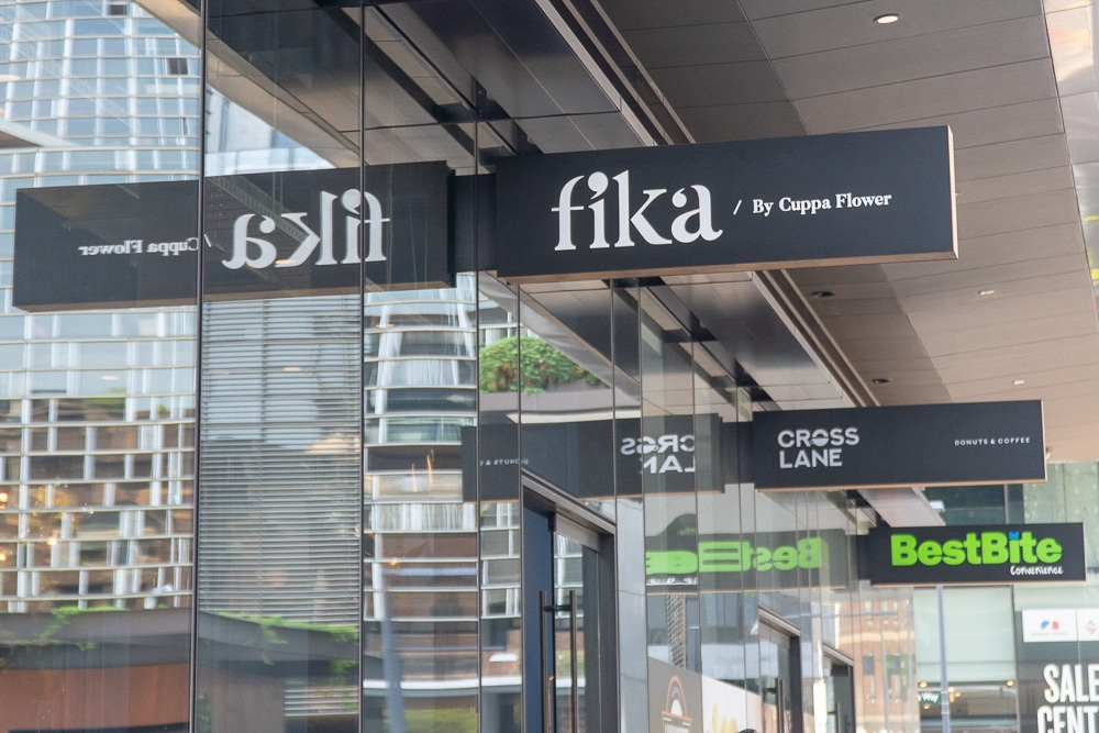 Fika By Cuppa Flower, signage