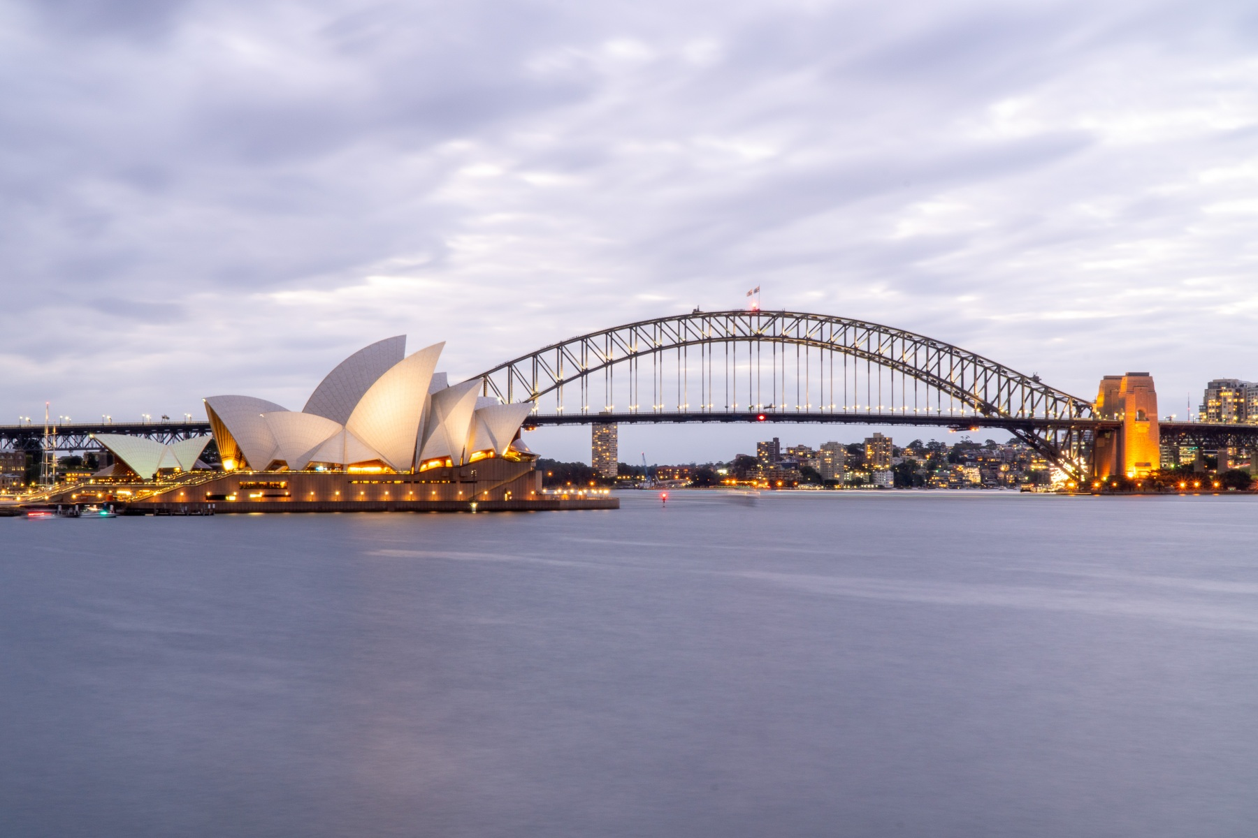 Sydney Opera House and Harbor Bridge