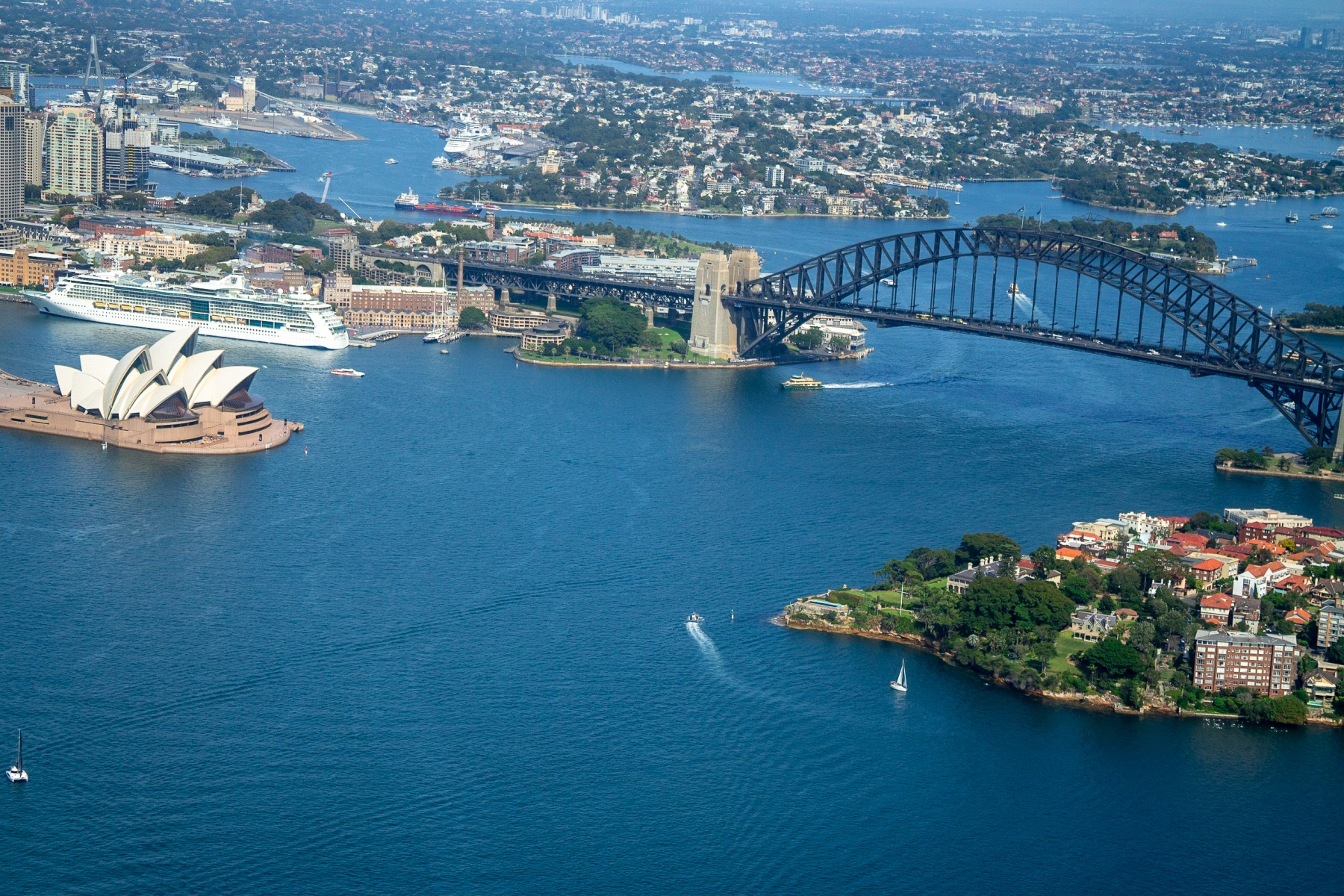 Sydney Aerial Helicopter View